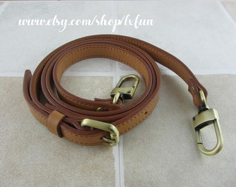 Light Brown Leather Purse Strap