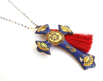 Tibetan cross necklace