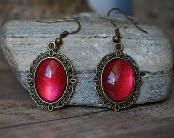 """Earrings """"Shining Red"""""""