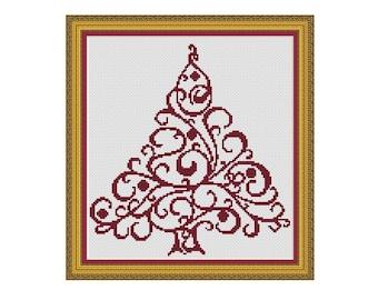 "Christmas cross stitch pattern ""Christmas Tree"",Instant download PDF"
