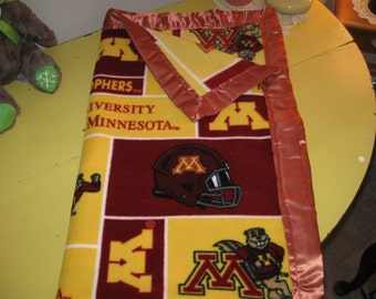 Soft Fleece Minnesota Gopher Blanket