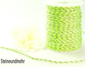 5m parachute cord Ø2, 5 mm fluorine green kind. 3441