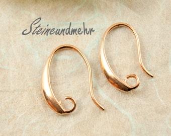 1 pair of earrings Rosé gold plated 17mm #1453