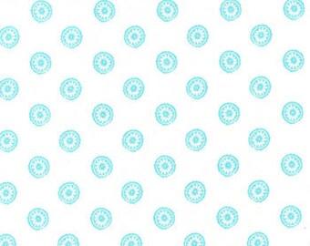 Turquoise Medallion 100 percent Cotton