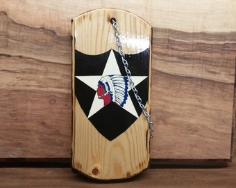 2nd Infantry Division wood dog tag