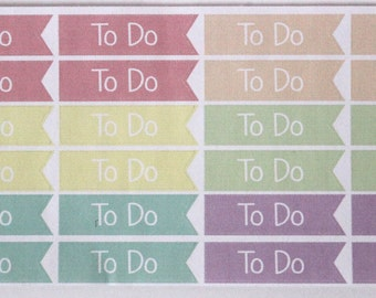 S3- TO DO PASTEL Multicolored Labels