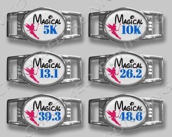 Magic Kingdom Disney Half Marathon 10K 5K Diva Runner Shoelace Running Charm