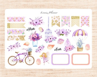 Sweet Dreams Deco (matte planner sticker, fits perfect in Erin Condren and Happy Planner)