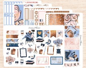 Planner Girl Kit or Al a Carte (matte planner sticker, fits perfect in Erin Condren Life Planner Vertical)