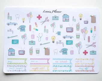 Appointments (Matte planner stickers, perfect for planners)