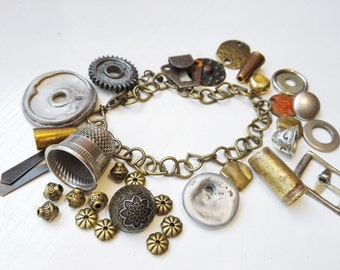 Assemblage jewelry findings Metal jewelry destash steampunk jewelry supplies
