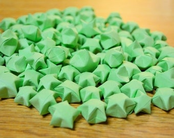 100 Origami Stars - [Lime Green Paper]
