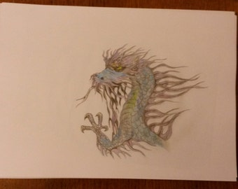 My Drawing Of A Mystical Dragon.