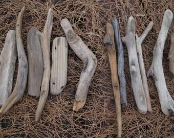 driftwood sticks set of natural driftwood rustic home decor wood art craft supplies beach wedding decor sea side finds beach cottage