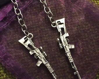 Sniper Rifle Dangling Earrings
