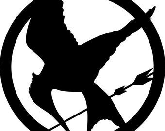 Hunger Games Decal. Mockingjay. Katniss. Movie. Book. Halloween. Car Decal. Wall Decal. Phone Decal. Geek. Nerd. Birthday Present.