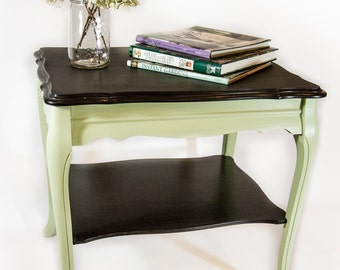 Cocktail Table with Chalkboard Top and Lower Shelf