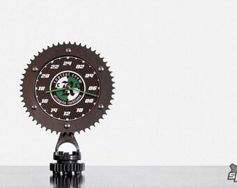Unique 24 hour clock, carbon fiber clock, unique desk clock, motorcycle sprocket clock, motorcycle gift, biker gift, special gift,
