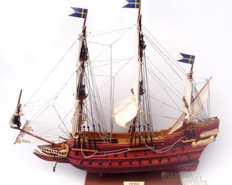 "20"" Handcrafted Wasa Ship Model"