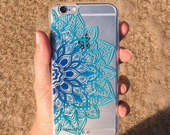 Blue Mandala iPhone 6/6s clear case