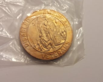 Disabled American Veterans 50 Year Service Medallion