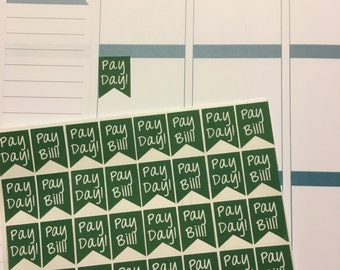 32 Pay Bill/Pay Day Stickers