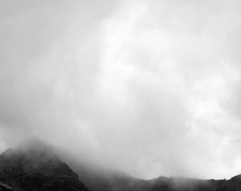 The Coming Storm -  storm, photography, print, art, nature, landscape, scotland, cloud, mist, monochrome, black and white, mountains