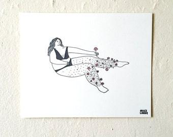 Flower Legs Print