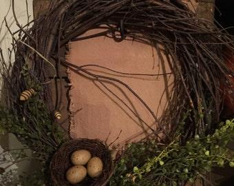 Primitive spring wreath 2