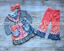 Boutique outfit, girl boutique outfit, boutique outfit girl, toddler outfit, toddler boutique outfit, ruffle pants, boutique pants,