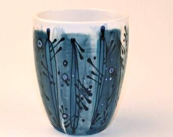 Blue Handpainted Tumbler