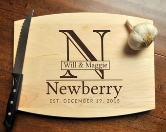 Personalized Cutting Board - Engraved Cutting Board, Custom Personalized Wedding Gift, Housewarming Gift, Anniversary, Christmas Gift, Maple