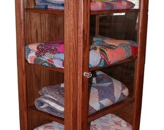 Quilt Display curio cabinet