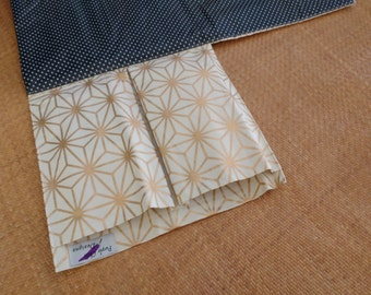 Nappy Wallet integrated with waterproof Change Mat - three or two pockets - gold diamonds