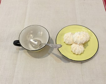 Vintage French tea cup and saucer
