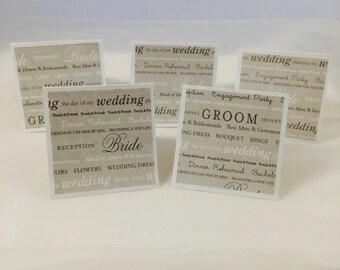 Bridal party greeting card set (10)