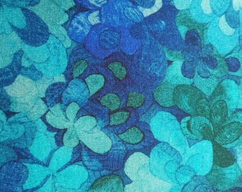 Liberty Viscose Jersey Fabric - Emerald Bay (A) - Green and Blue Abstract Floral - 125 cm piece