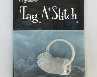 Tag A Stitch, by Crystaletts, Plastic Marker Discs, Knit markers, Crochet markers, use with Knitters Safety Pins, Crystaletts Stitch Markers