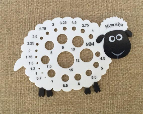 Knitting Gauge Tool : Sheep needle gauge hiyahiya