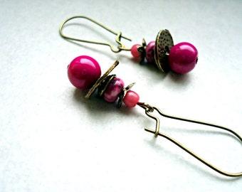 Earrings romantic ballerina ~ Jade Raspberry ~.