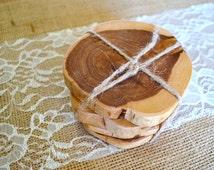 Rustic Cedar Coasters