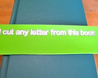 Readers Digest Book Letter-Solid Teal
