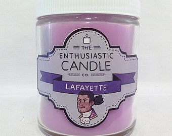 LAFAYETTE - Hamilton Fandom-Inspired Soy Candle