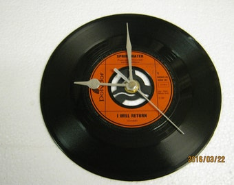 "Springwater - ""I Will Return"" Vinyl Record Wall Clock"