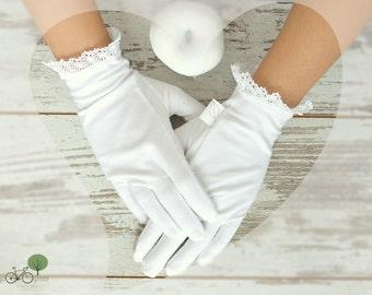 100% Organic cotton gloves - Handmade Moisturizing SPA gloves - Sleeping gloves - Treat yourself ! - White manicure cotton gloves