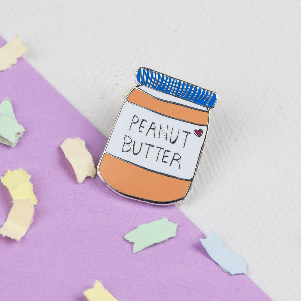 Peanut Butter Enamel Pin // Foodie Lapel Pin Hard By Punkypins