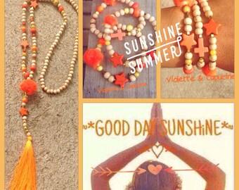 Necklace beads INDIA Boho