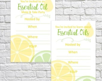 Printable Essential Oil Make & Take, Make and Take, Essential Oil Party, Make and Take Invitations, Essential Oil Class, Party Invitations