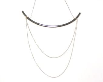 gold/silver necklace with layers