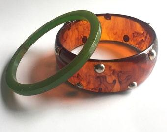 Bakelite Bangle Bracelets 2- As Is